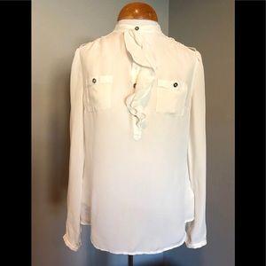 WHBM - sheer silk blouse